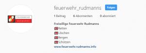 Die FF Rudmanns ist jetzt auf Instagram vertreten!