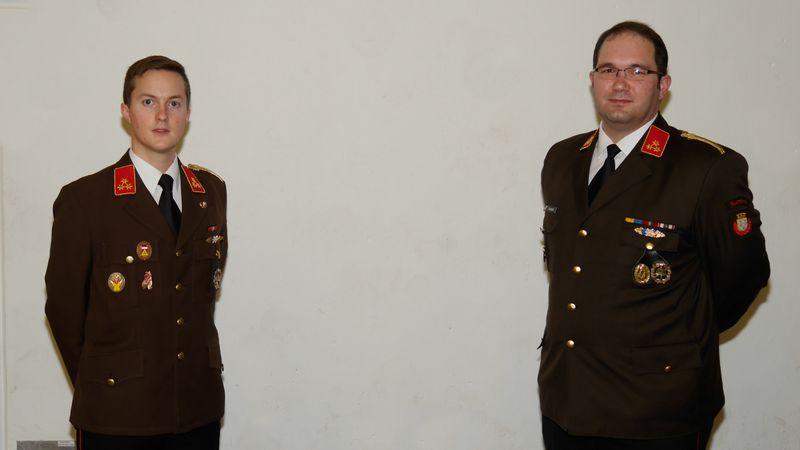 Stellvertreter ABI Benedikt Strasser und Abschnittsfeuerwehrkommandant BR Franz Thaler führen nun den Abschnitt Zwettl